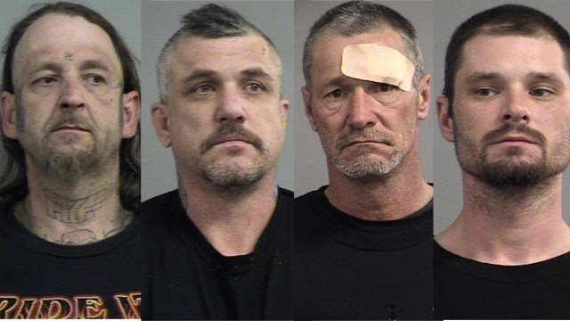 Joseph Starling, Anthony Jaggers, Robert Gene Smith and Robert Powell (Courtesy: Metro Corrections)
