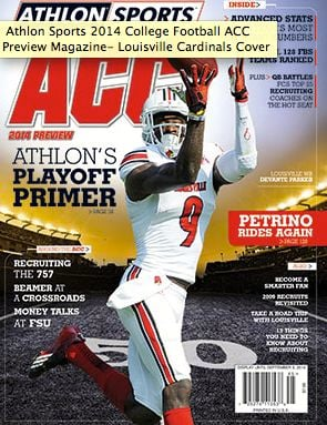 Louisville receiver DeVante Parker made the cover of the regional edition of Athlon Sports College Football Yearbook.