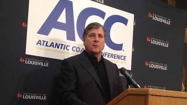Tom Jurich, who became U of L's athletics director in 1997, engineered the school's ascent into the Atlantic Coast Conference. Jurich was fired Wednesday, Oct. 18, 2017.