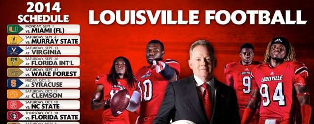 Louisville has six bowl teams on its 2014 football schedule.