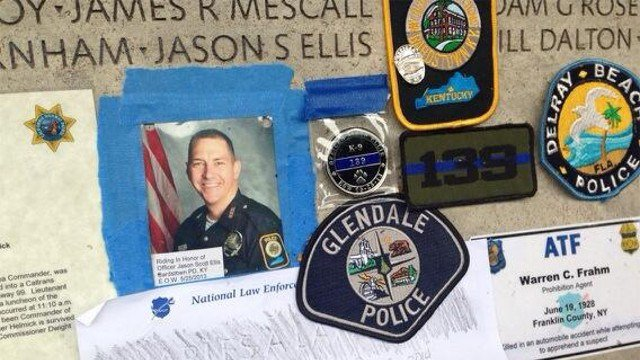 Fallen Bardstown Police Officer Jason Ellis' name is now etched on the fallen officers memorial in Washington, D.C.