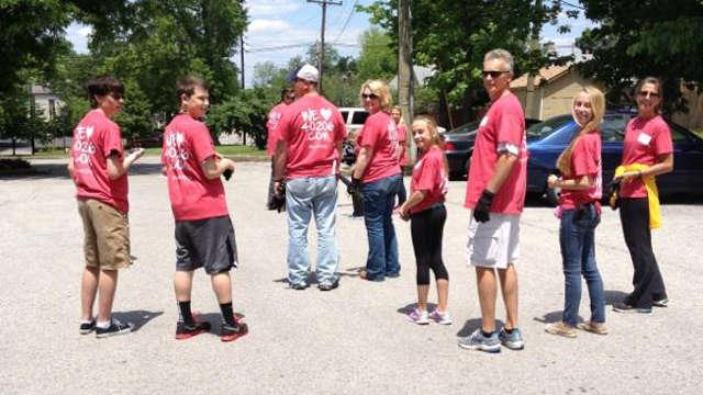 Northeast Christian Church members clean up Clifton