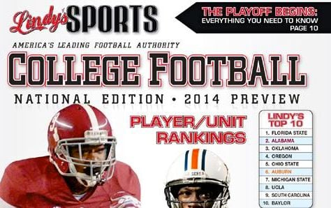 Louisville did not make the Top 25 in Lindy's 2014 College Football Yearbook.