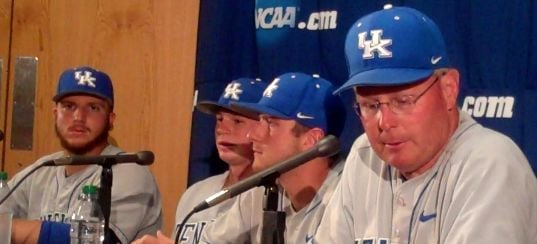 Kentucky rallied with four in the ninth to beat Kent State Saturday.