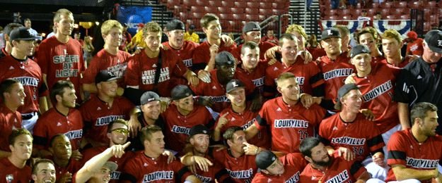 Louisville celebrated earning a trip to the College World Series.