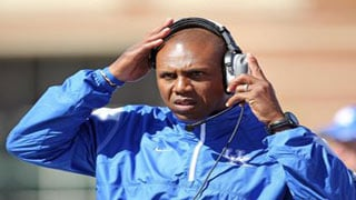 Joker Phillips shown as UK head football coach. He resigned Wednesday from Florida after one season as an assistant coach.