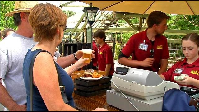 Zoo patrons buy beer, which is available during regular business hours now. But apparently Brew at the Zoo is exceedingly popular these days.
