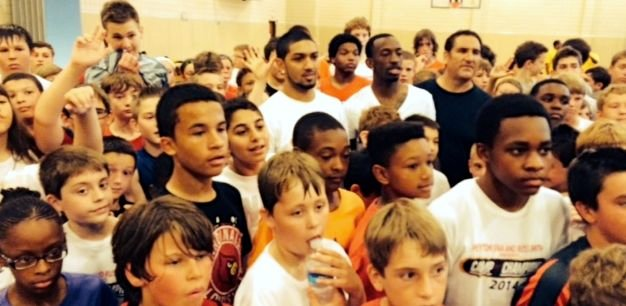 Peyton Siva and Russ Smith have teamed up to run a basketball camp this week.