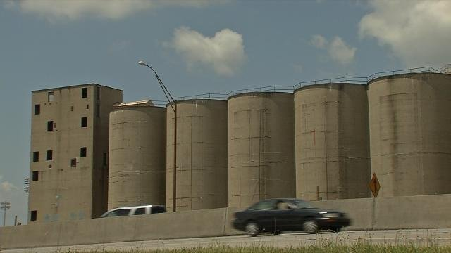 The old Solae silos, now owned by U of L.