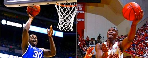 Julius Randle (left) and Noah Vonleh should be taken in the first eight picks of the NBA Draft Thursday.