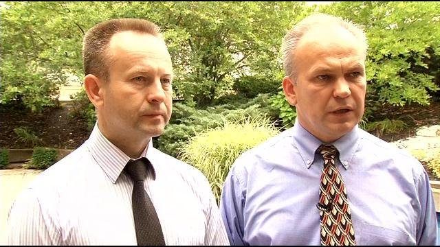 Valery Antoniuk (left) and Sergei Omelchenko (right) spoke with WDRB News Friday