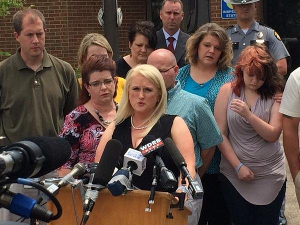 Stacey Hibbard spoke to the media asking for help from the public Wednesday.