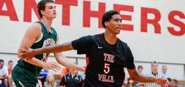 Raymond Spalding of Trinity has impressed coaches at the AAU Nationals in Louisville.
