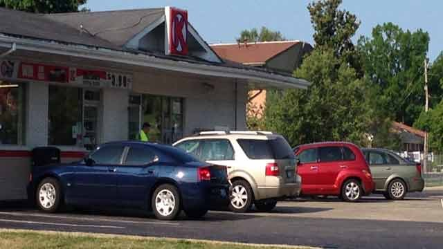 Police were called to this Circle K at 8801 Third Street Road around 7:30.