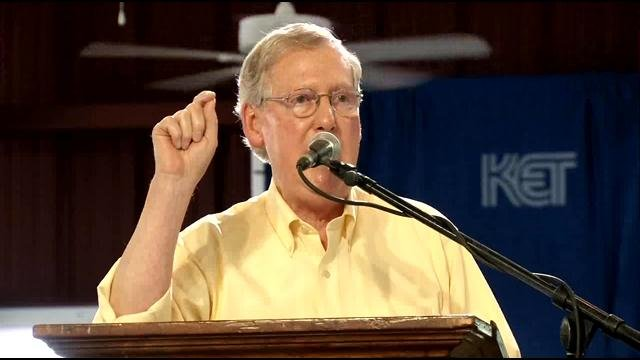 Mitch McConnell speaks at Fancy Farm 2014.