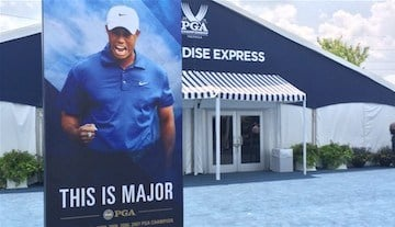 Is this all we'll see of Tiger Woods at Valhalla this week? (WDRB photo).