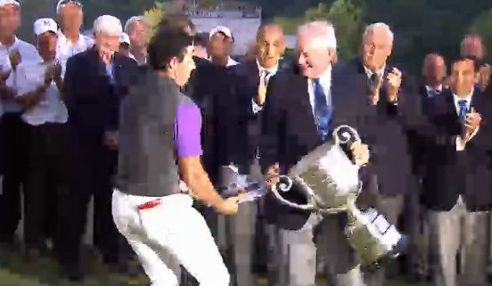 Rory McIlroy won the PGA Championship Sunday -- and saved the lid of the Wanamaker Trophy from falling to the ground.