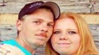 Jonathan French, left, with his fiancee.