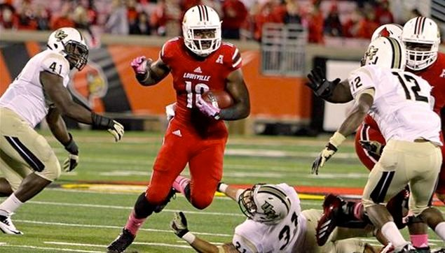 Dominique Brown led Louisville's backs in rushing last season, but Bobby Petrino wants him to improve his technique.