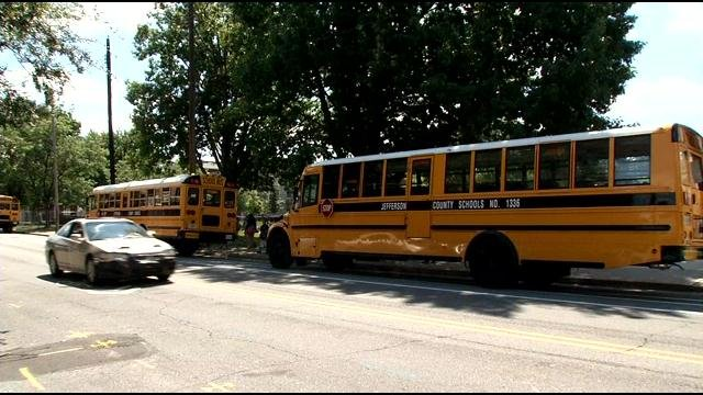 WDRB file photo of JCPS buses