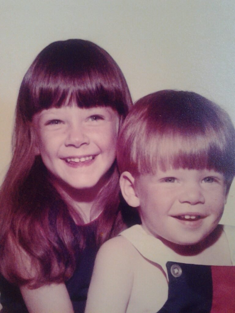 Craig Drury with his sister Stacey.