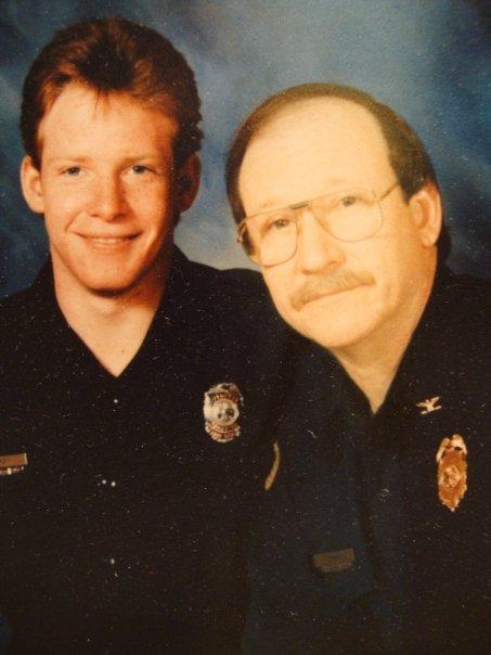 Craig Drury with his dad, Teddy.