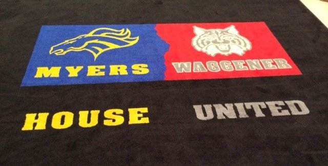 The new welcome mat for the school.