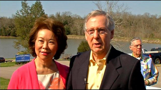 McConnell and his wife at a campaign event earlier in 2014.
