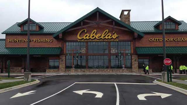 Police say Officer Wagner stole from Cabela's, a hunting, fishing and outdoor sports store.