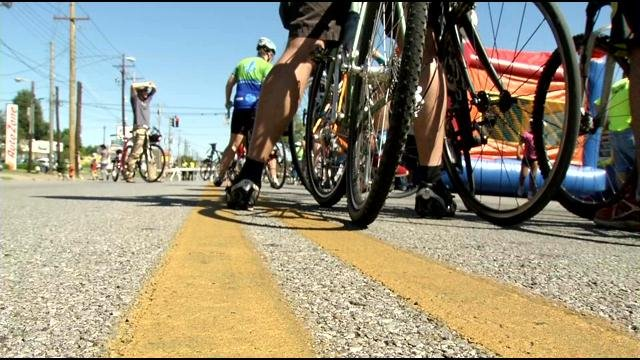 Bicycle riders take part in a previous CycLOUvia event.
