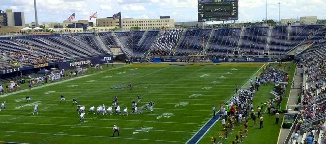 FIU announced a crowd of 10,147 for its game with Pitt last Saturday.