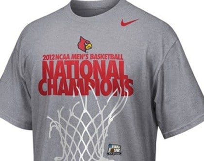 While Louisville is an adidas school, its official NCAA championship shirts in 2013 were produced by Nike, via a deal with the NCAA.