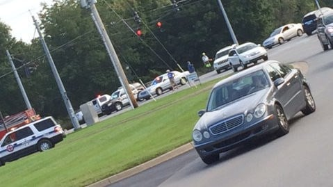 Traffic is being diverted off U.S. 42 through the Hillcrest neighborhood. Courtesy: Julia Pritchett
