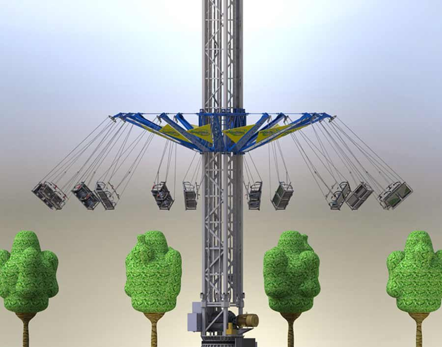 You'll now be able to see Kentucky Kingdom and Hurricane Bay like you've never seen them before – swinging 130 feet atop of Skycatcher.