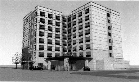 rendering of Holiday Inn, via Louisville Metro Planning and Design