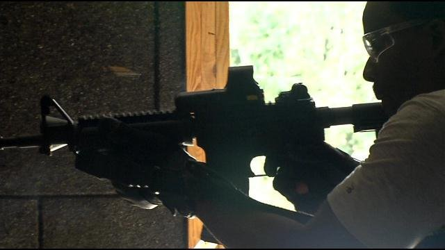 Members of LMPD SWAT are trained for high risk situations and had a suspect shoot at them just last week.