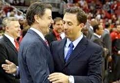 Rick (left) and Richard Pitino are counting the days until U of L plays Minnesota.