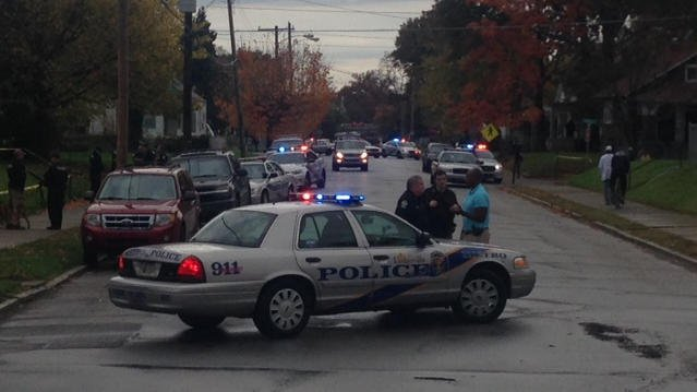 Officers responded to the shooting on Garland Avenue shortly before 4 p.m. Tuesday afternoon.