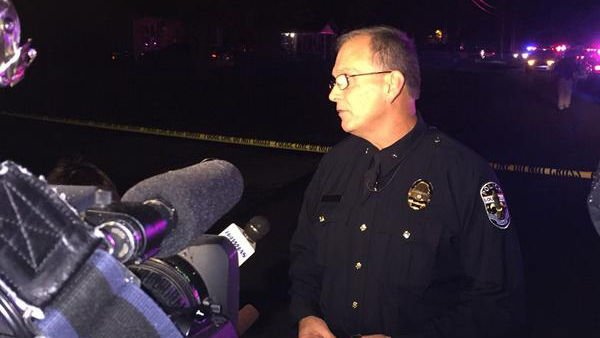 Chief Conrad speaks to the media about the officer involved shooting on October 28, 2014.