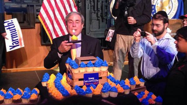 Congressman John Yarmuth celebrated his birthday (Nov. 4) at the victory party in Louisville.