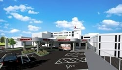 rendering of new ER at Sts. Mary & Elizabeth Hospital