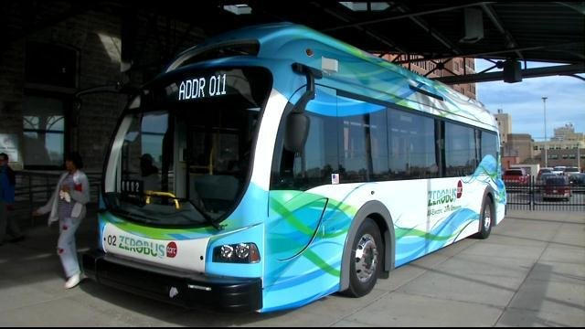 One of the all-electric Zerobuses.