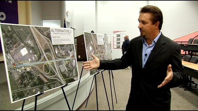 Joel Morrill, with the Corradino Group, discusses the proposed plans for changes to Dixie Highway.