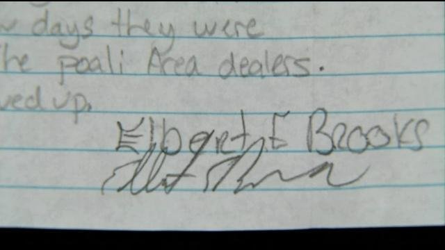 The signature at the bottom of the letter.