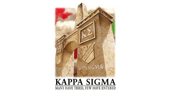 Screenshot of promotional material from WVU Kappa Sigma website.