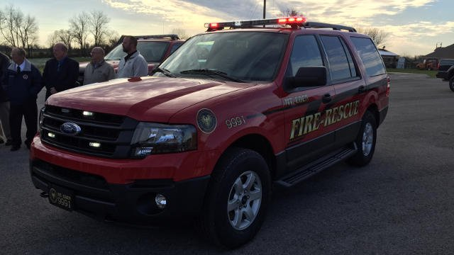 Mt. Eden Fire Department's new truck, courtesy of Ford.