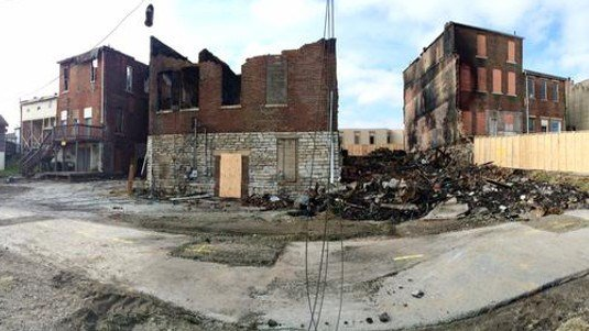 North Vernon charred building remains.jpg