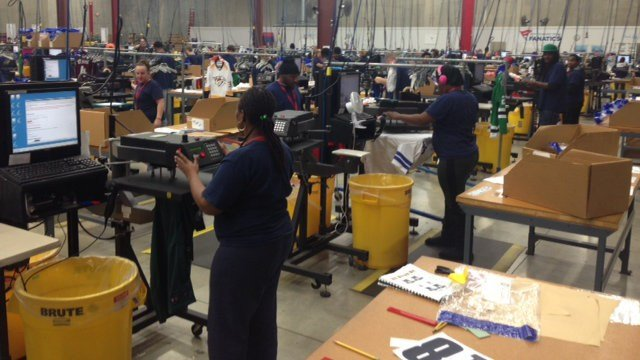 With seasonal employment, the facility now has around 1,200 employees on the payroll