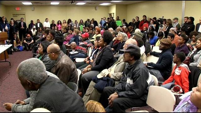 A large crowd turned out to voice concerns about a wide range of issues both local and national.