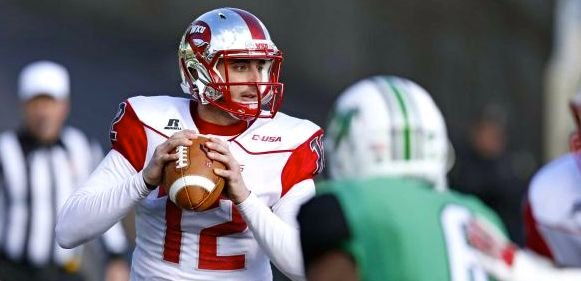 WKU quarterback Brandon Doughty led the nation in touchdown passes this season.